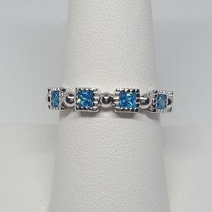 Jewelry - Sterling Silver Princess Cut Eternity Ring
